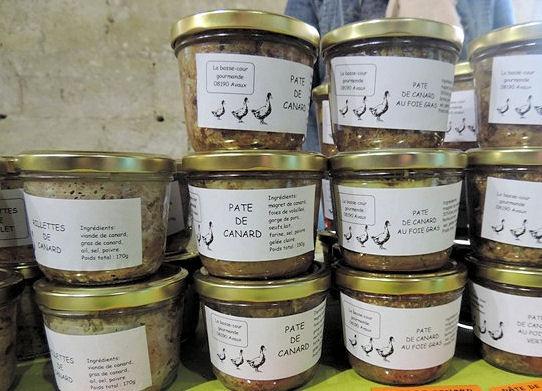 Pâté de canard au marché paysan d'Avaux
