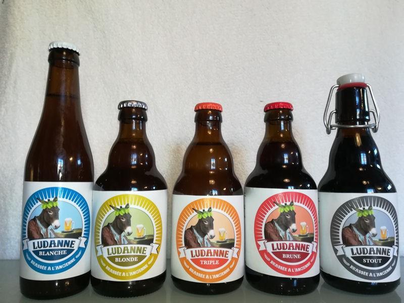 Gamme des bières Ludanne